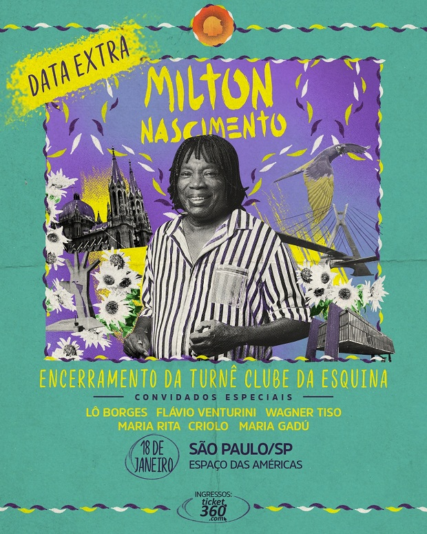 Milton Nascimento faz emocionante encerramento de turnê em São Paulo