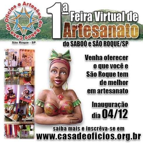 1ª Feira Virtual de Artesanato do Saboó e São Roque será lançada nesta quarta-feira