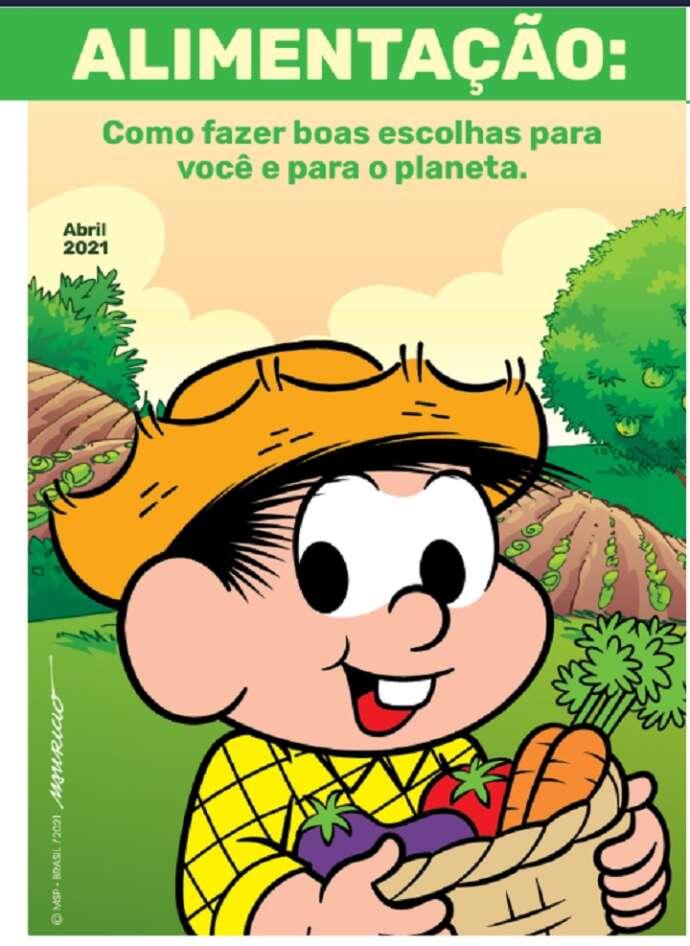 Turma da Mônica e WWF divulgam cartilha que valoriza a agricultura nacional