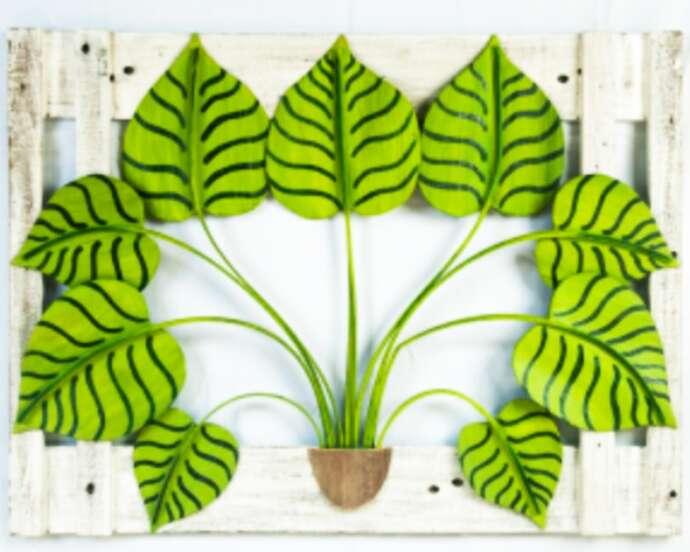 Quadros são feitos a partir de descarte e unem cuidado com o ambiente e beleza
