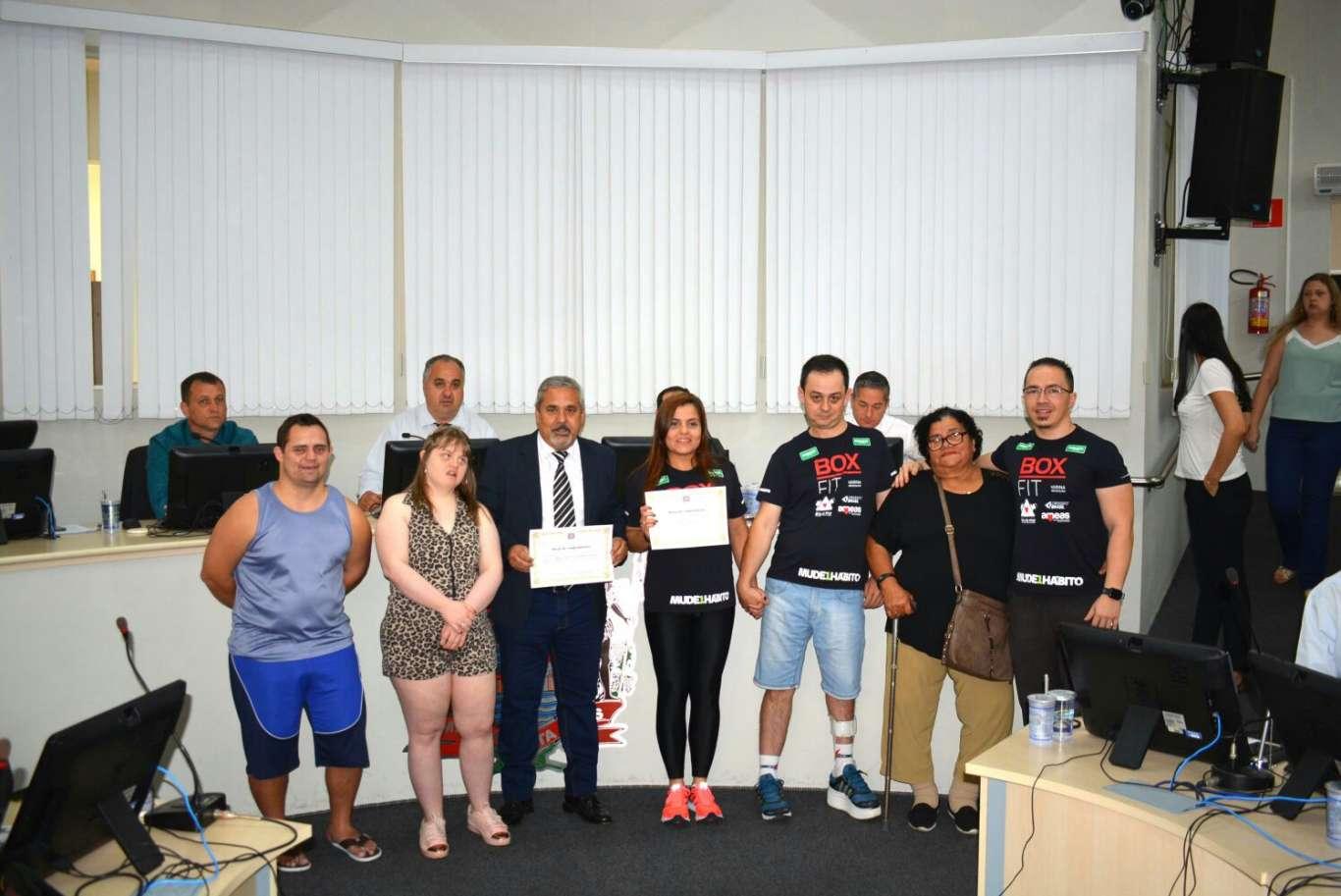 Projeto CrossFit Adaptado do AMEAS recebe homenagem na Câmara