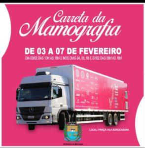 Mairinque recebe Carreta da Mamografia no próximo dia 3