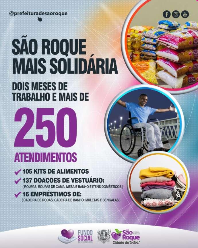 Fundo Social de Solidariedade faz mais de 250 atendimentos em dois meses