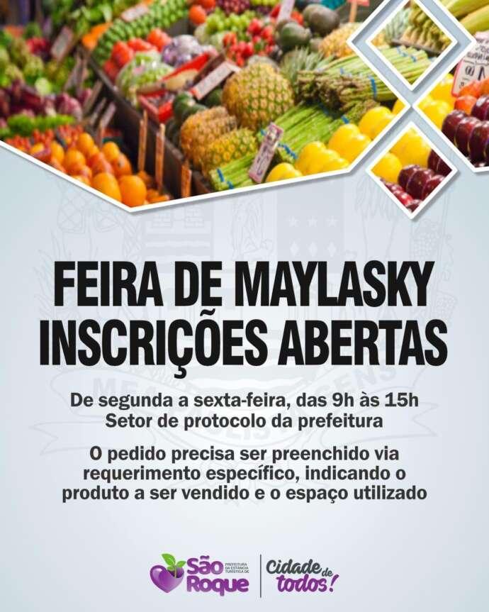 Maylasky terá feira livre a partir de outubro